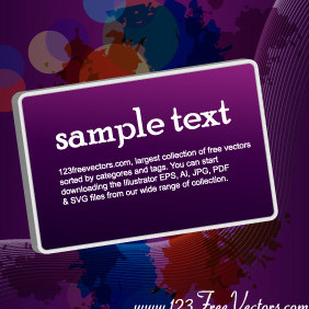 Purple Vector Background With Banner - vector gratuit #206147
