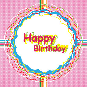 Happy Birthday Card Design For Kids By Visionmates - vector #206157 gratis