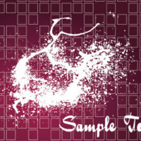 Splashled Dark Grunge Vector Background - Free vector #206197