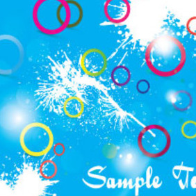 Colored Circles Blue Splash Background - vector gratuit #206207