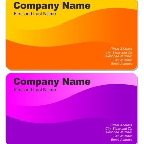 Two Beautiful Business Cards - vector #206217 gratis