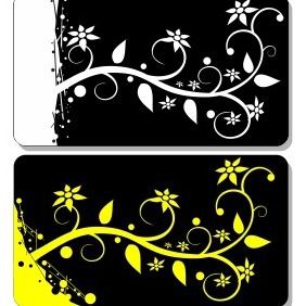Business Card With Floral Elements - Kostenloses vector #206267