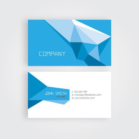 Geometric Business Card - Free vector #206307