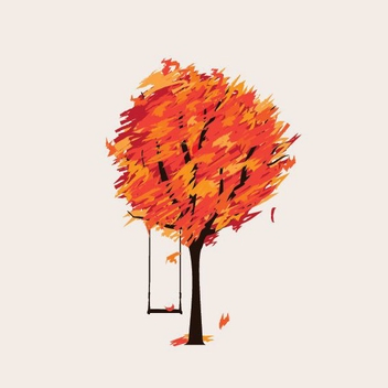 Lonely Autumn - vector gratuit #206347