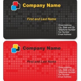 Tech Business Card Set - vector gratuit #206547