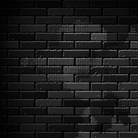 Dark Brick Wall - vector gratuit #206587