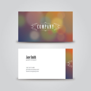 Vintage Business Card - vector gratuit #206627