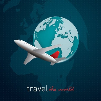 Travel The World - vector gratuit #206637