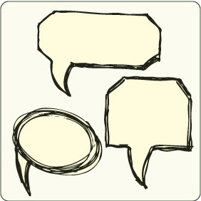 Chat Bubbles 5 - vector #206667 gratis