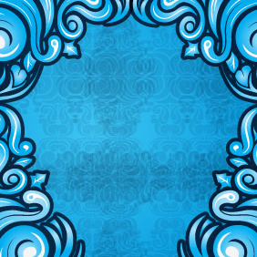 Blue Swirl Background - Free vector #206737