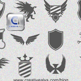 Logo Design Heraldic Elements - бесплатный vector #206767