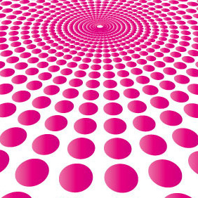 Pink Circle Burst Vector Background - бесплатный vector #206847