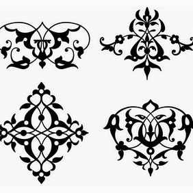 Typographic Ornamental Vignettes - Free vector #206957