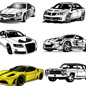 10 Cars Vector Set - Free vector #207087
