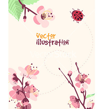 Free spring with flower vector - vector gratuit #207137
