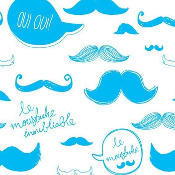 Moustache Pattern - vector #207147 gratis