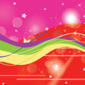 Pink And Red Starsy Abstract Background - Kostenloses vector #207227