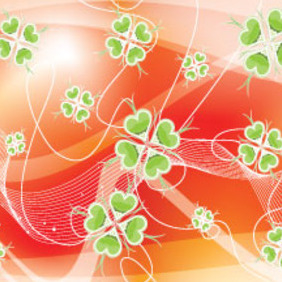 Abstract Wonderful Green Flower Vector - Free vector #207357