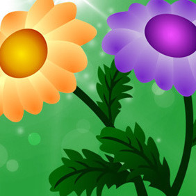Free Vector Chrysanthemum Flowers - Kostenloses vector #207367