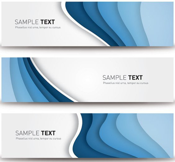 Blue Banners - Free vector #207567