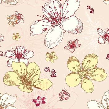 Seamless Flower Pattern - vector gratuit #207587