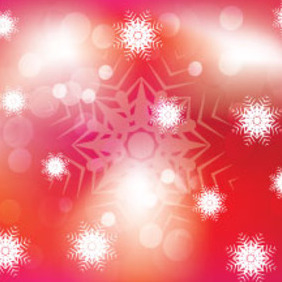 Red Background With White Ornament - vector gratuit #207597