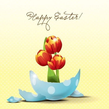 Easter Tulips - vector gratuit #207767