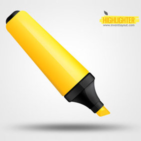 Yellow Highlighter Pen - vector gratuit #207927