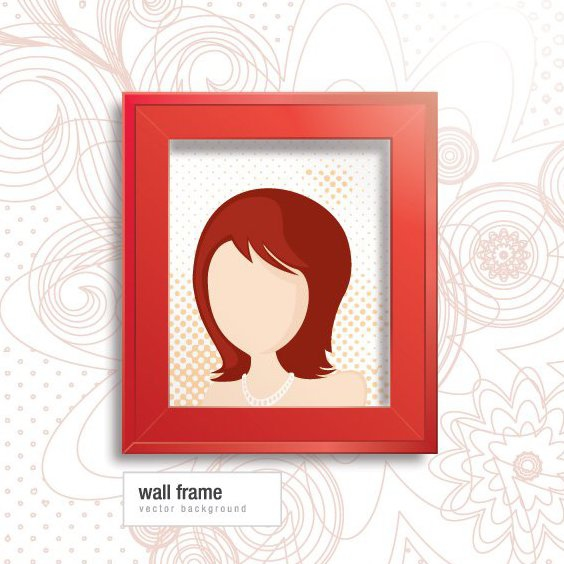Wall Frame - Free vector #208107
