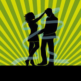 Lovers Silhouette Vector - бесплатный vector #208137