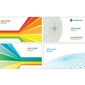 Business Cards Vector Templates Set - бесплатный vector #208157