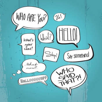 Comic Book Speech Bubbles - бесплатный vector #208207