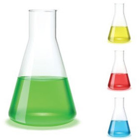 Chemistry Flasks - Free vector #208257