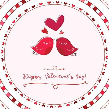 Valentine Love Birds - vector gratuit #208267