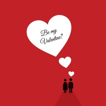Red Valentines Card - vector gratuit #208367