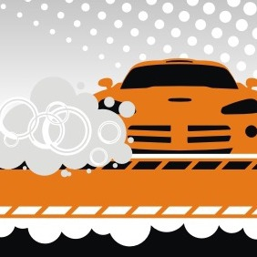 Orange Car Background - vector #208477 gratis