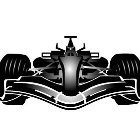 Formula One Car Vector - бесплатный vector #208557