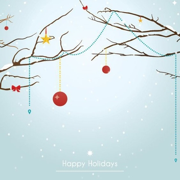 Decorated Tree - vector gratuit #208627