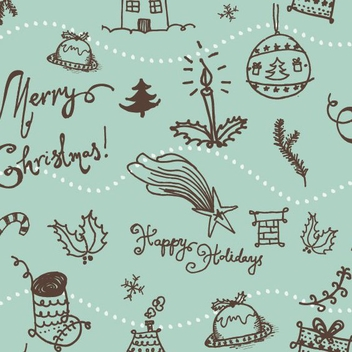 Christmas Seamless Pattern - бесплатный vector #208697
