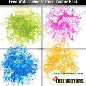 Free Watercolor Texture Vector Pack - vector gratuit #208717