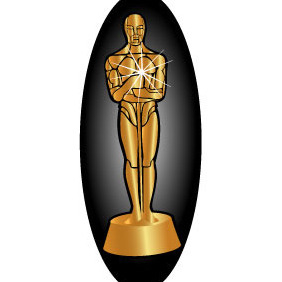 vector oscar statue template free vector download 381821 cannypic