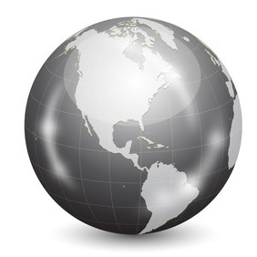 Glossy Vector Earth Globe - Kostenloses vector #208937