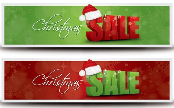 Christmas Sale Banner - Free vector #208957