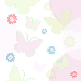 Seamless Background With Butterflies - Free vector #209087