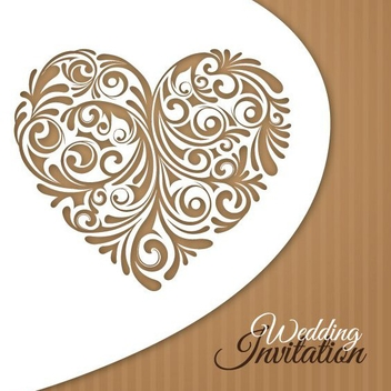Wedding Invitation Card - vector gratuit #209107