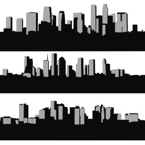 City Skyline Silhouette - vector gratuit #209177