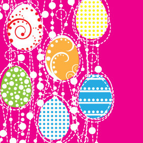 Vector Easter Eggs Design - vector gratuit #209257
