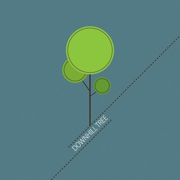 Downhill Tree - vector gratuit #209277