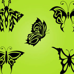 Tribal Butterfly By Vectorvaco.com - vector #209357 gratis