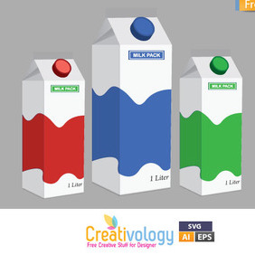 Free Vector Milk Pack - vector gratuit #209457